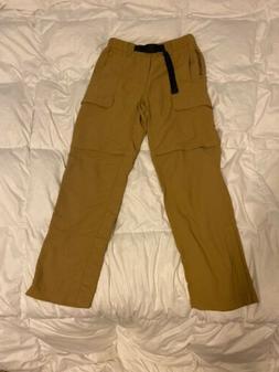 The North Face Khaki Cargo Pants Men Small Belt Buckle Tan C
