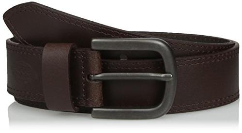 100 percent leather jeans belt with stitch