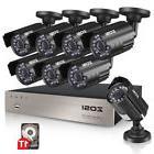 ZOSI 1080P HDMI HD 8CH DVR 720p Outdoor CCTV Home Security C