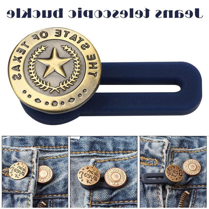 10pcs jeans retractable button adjustable detachable extende