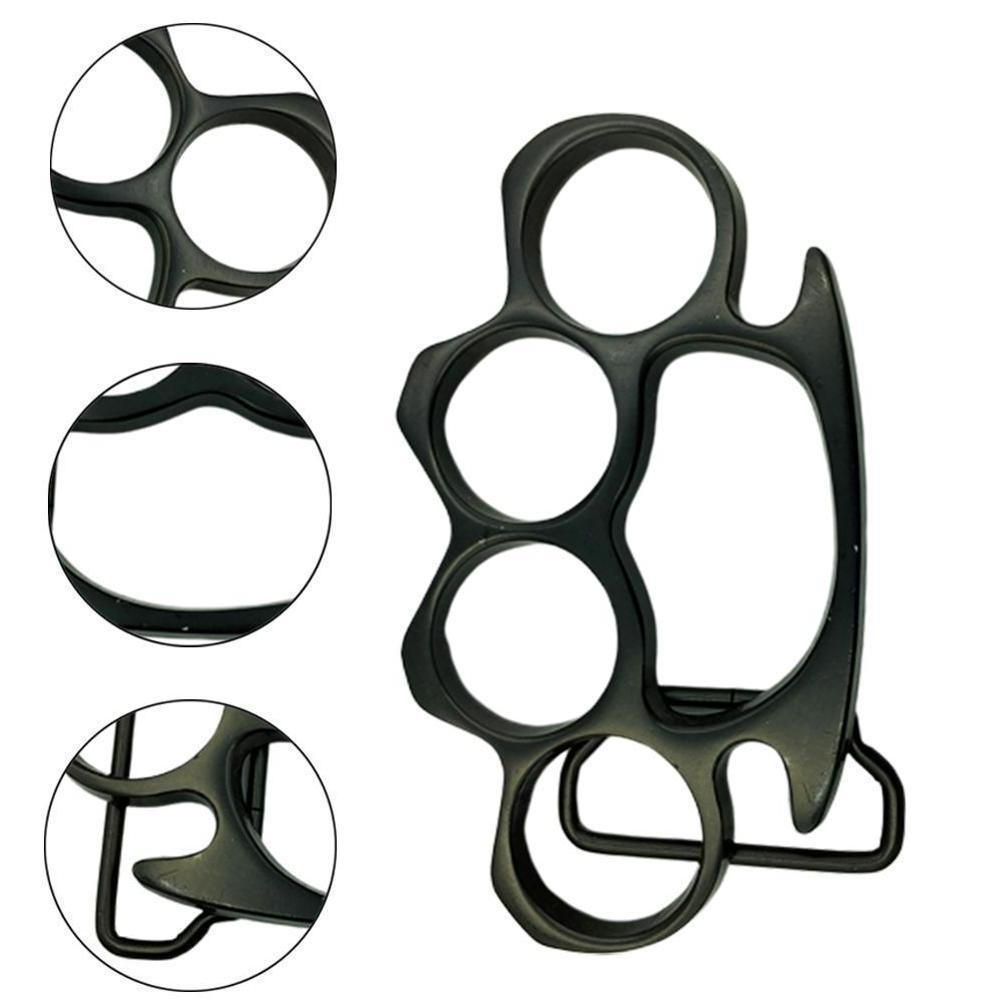 1pc Black <font><b>Belt</b></font> <font><b>Buckle</b></font> Steel Style Knuckle Costume Accessory