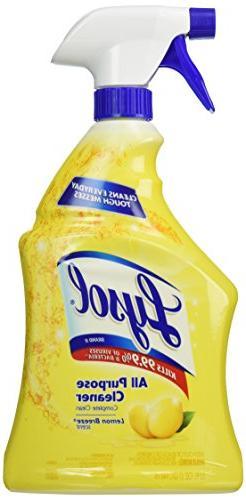 2 Pk, Lysol All-Purpose Cleaner Trigger, Lemon Breeze Scent,