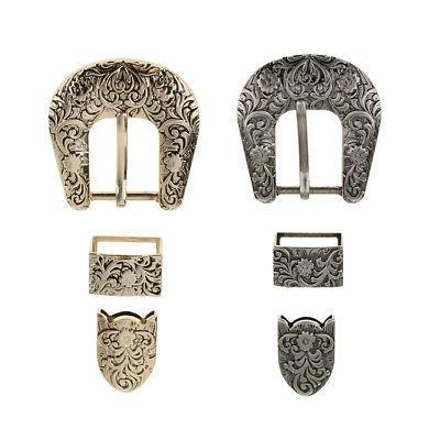 2 sets alloy pin buckle leather belt