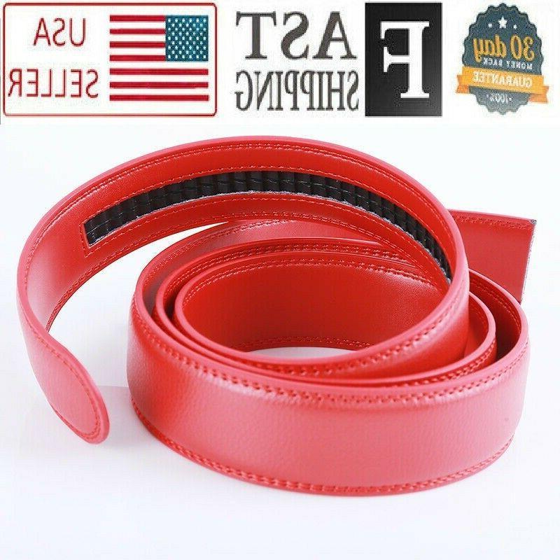 3.5 cm Belt Red Strap for Automatic Ratchet Buckles Belt STR
