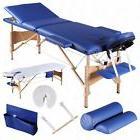 "3 Fold 84""L Portable Facial SPA Bed Massage Table Sheet+2 Bo"