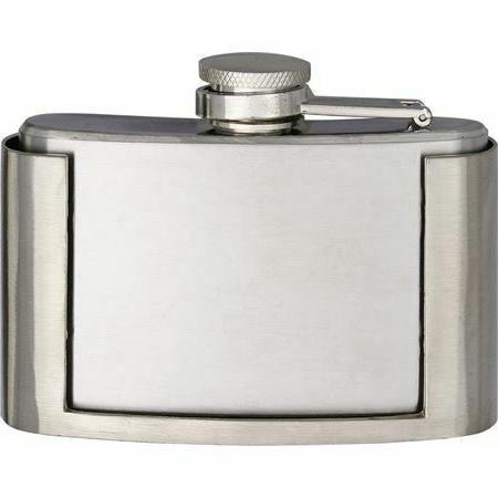 3oz flask belt buckle w stainless steel