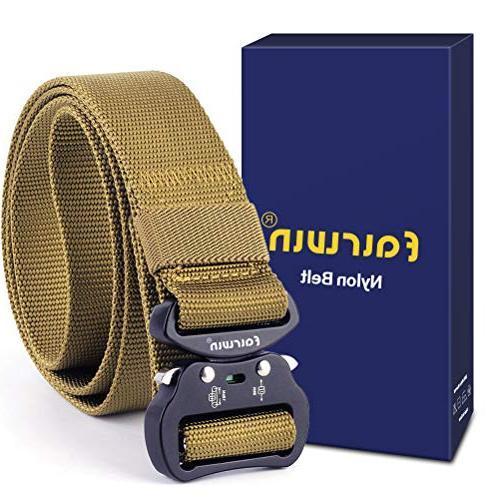Fairwin Tactical Belt, Military Style Webbing Riggers Belt w