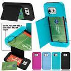 For Samsung Galaxy S6 Hybrid Hard Credit Card ID Holder Case