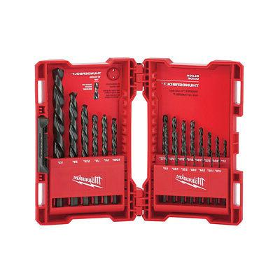 Milwaukee 21 Pc Thunderbolt Black Oxide Drill Bit Set 48-89-