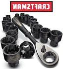 NEW Craftsman 19pc Universal Socket Ratchet Wrench Tool Set
