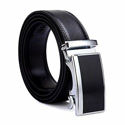 Tonly Monders Men's 35mm Dress Leather Ratchet Belt,Buckle B