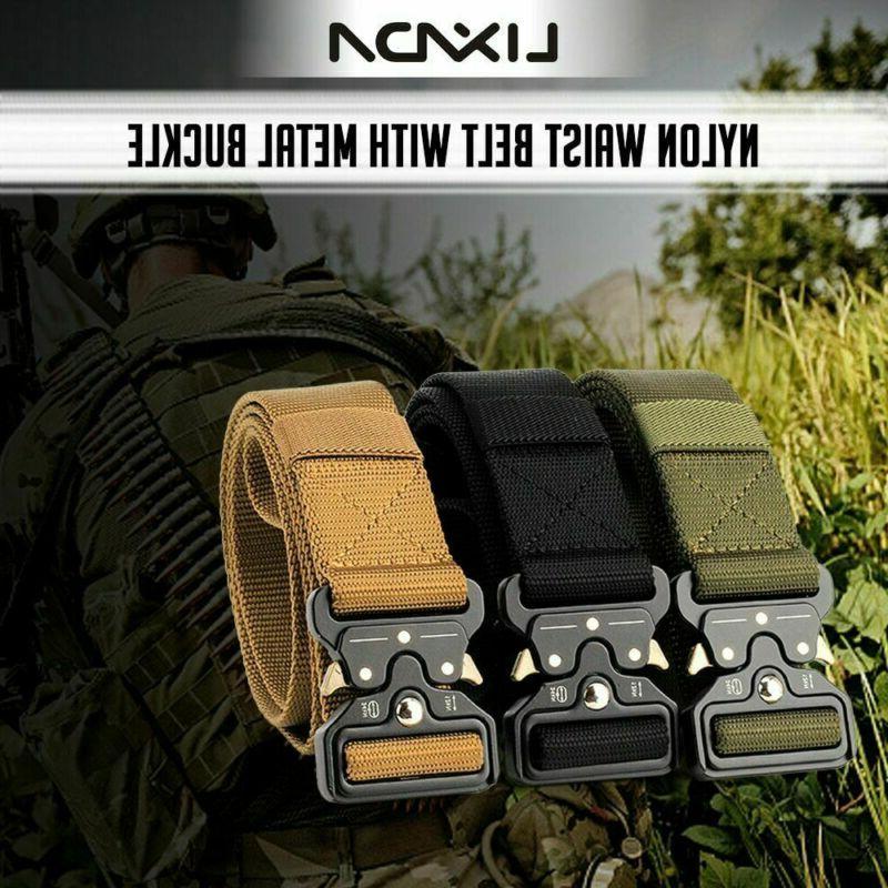 Adjustable Men Military Belt Buckle Waistband Tactical