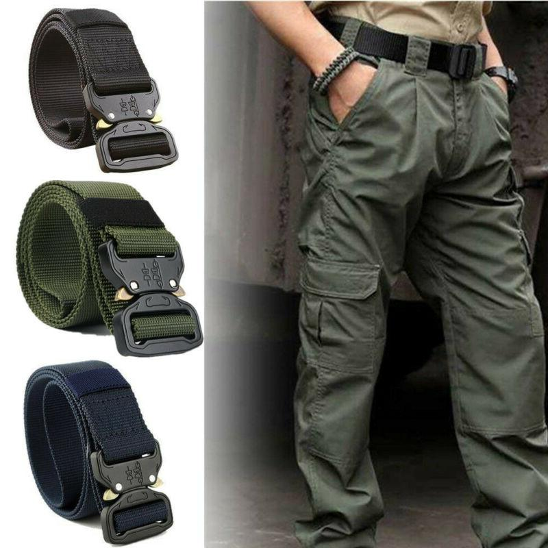 adjustable men military belt buckle combat army
