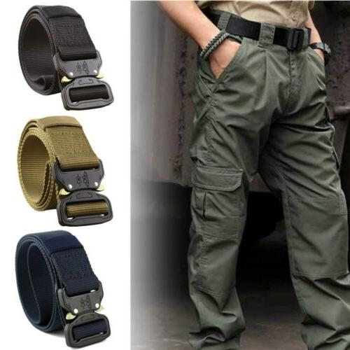 adjustable men military belt buckle combat waistband