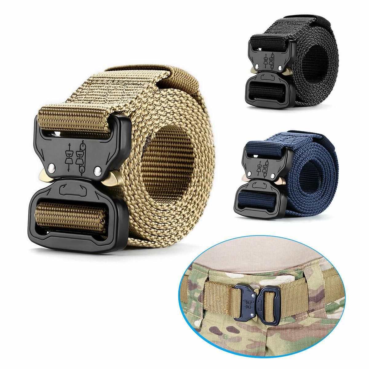 adjustable men military belt combat waistband tactical