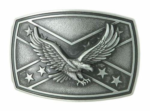 american eagle crossed stars metal western belt
