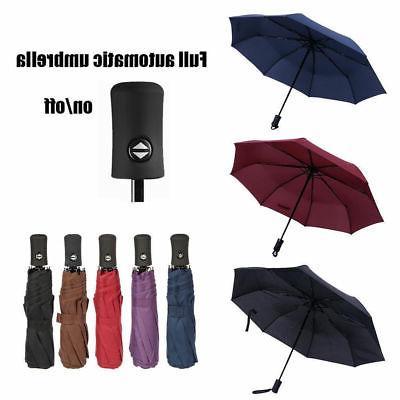 Automatic Travel Umbrella Windproof Auto Open Close 3 Foldin