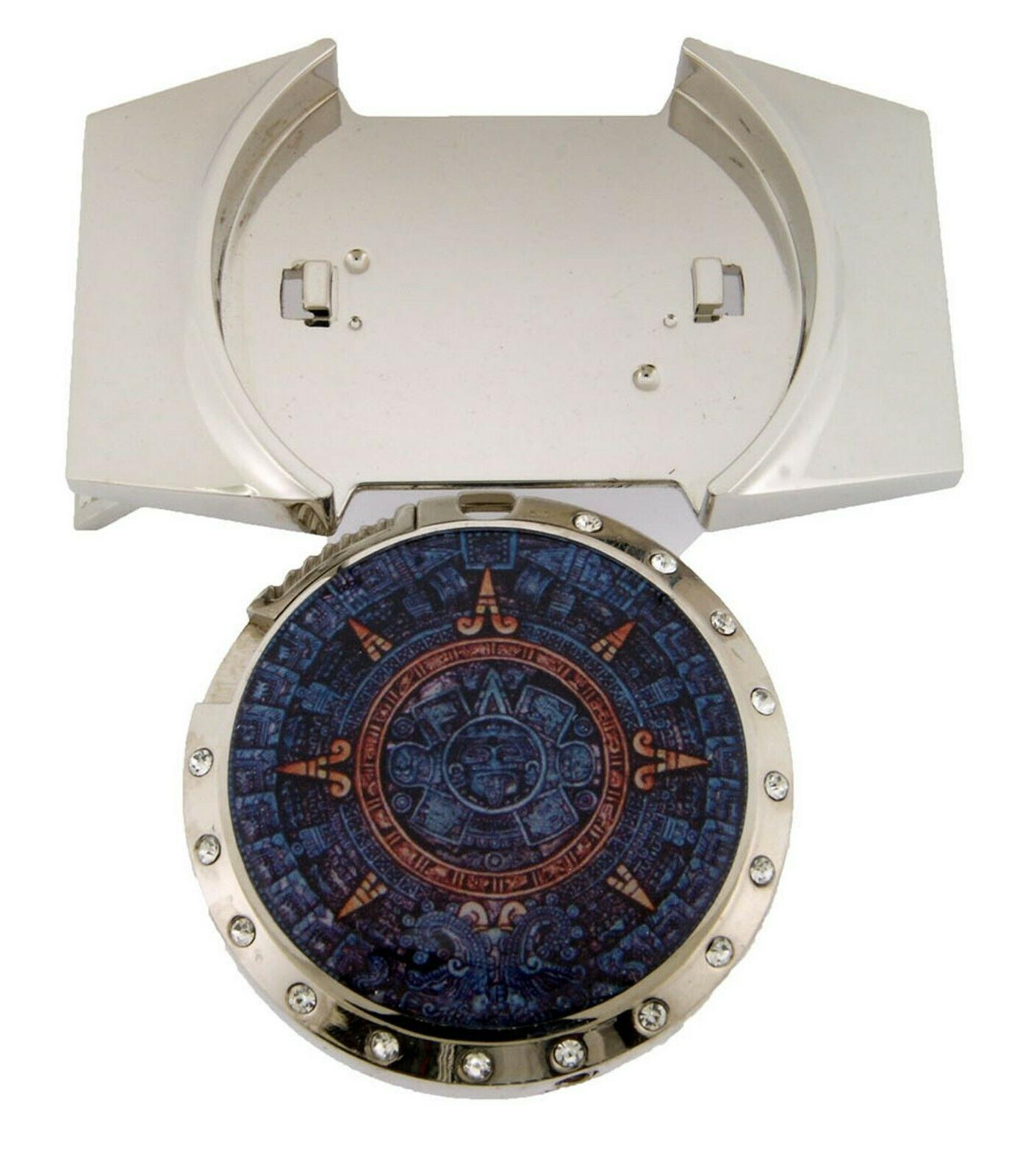 Aztec Calendar Removable Belt Buckle Mayan