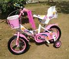 "New 12"" Children Girls Kids Bike Bicycle With Training Wheel"