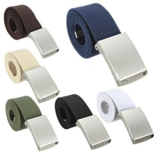 Black Belt Unisex Cotton Fabric Canvas Army Style Combat Web