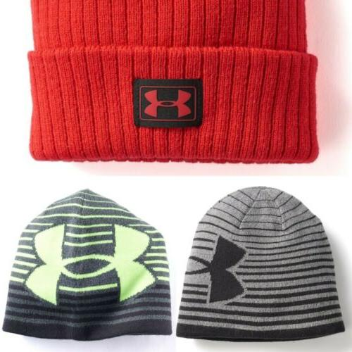 Under Armour Boys Youth Winter Beanie Hat 3-STYLES  NWT MSRP