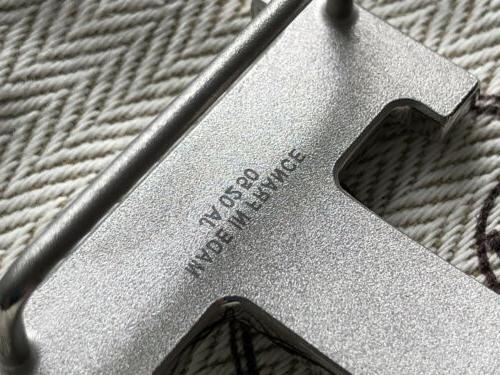 Brand 100% Hermes Guilloche H Buckle for Sz 32mm belt
