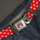 Buckle Down Seatbelt Web Belt Disney Minnie Mouse Automotive