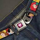 Buckle Down Seatbelt Web Belt Disney Princess Ariel Jasmine