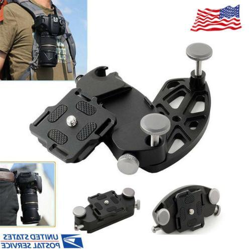 camera quick release holster waist belt buckle