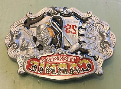 carnie tickets 25 cents carnival belt buckle