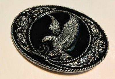 classic american eagle full metal belt buckle