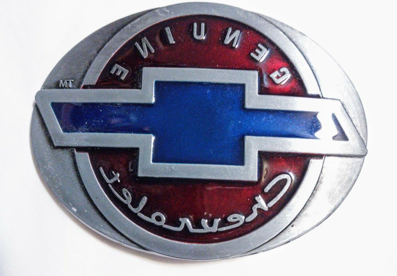 classic retro chevy logo belt buckle collectible