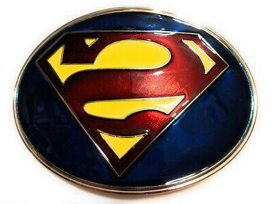 classic superman logo belt buckle full metal