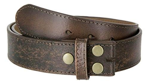 classic vintage distressed casual jean leather belt