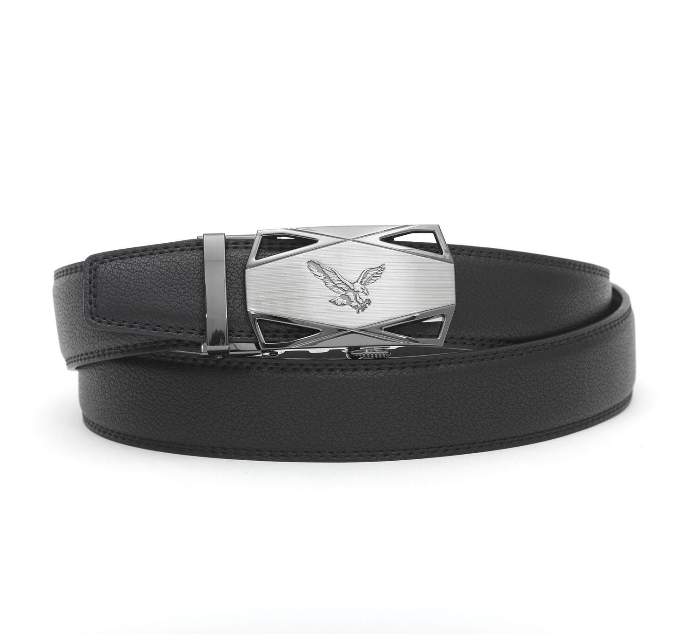 Click Comfort. Men's belt. Leather Dress BELT AUTOMATIC LOCK