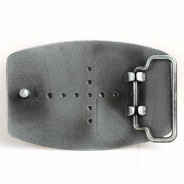 Cocky Belt Buckle seen on Full Metal Enamel Pewter Finish