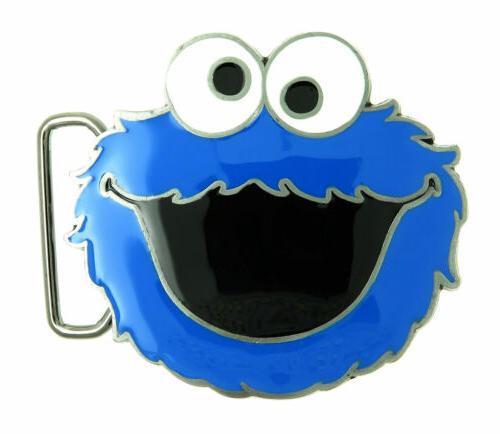 cookie monster metal belt buckle