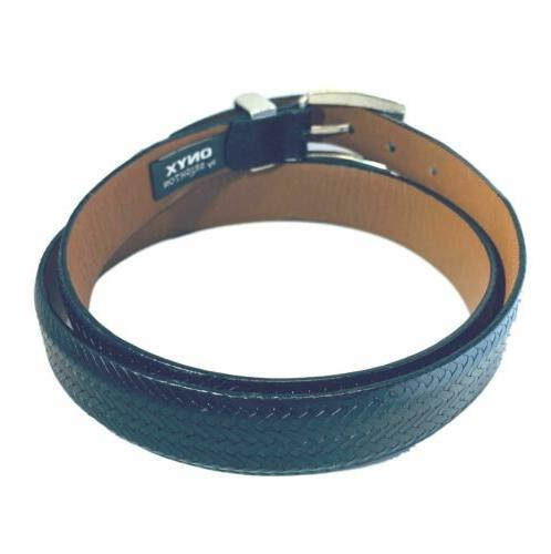 ONYX Dark Woven Belt 38