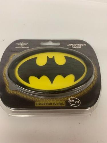 dc batman light up belt buckle bat