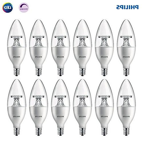 dimmable b11 clear candle light