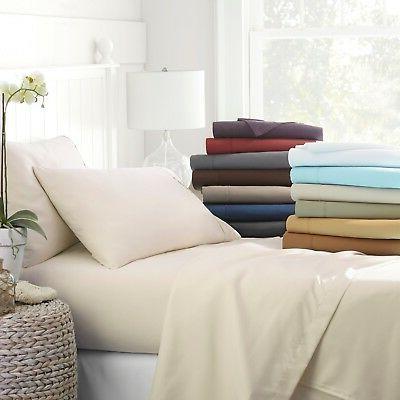Egyptian Comfort 4 Piece Deep Pocket Bed Sheet Set - Hypoall
