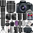 Canon EOS Rebel T6 SLR Camera 1300D + 18-55mm IS + 500mm 4 L