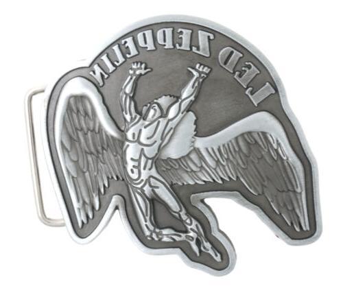 fallen angel led zeppelin metal belt buckle