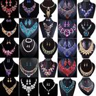 Fashion Crystal Pendant Bib Choker Chain Statement Necklace