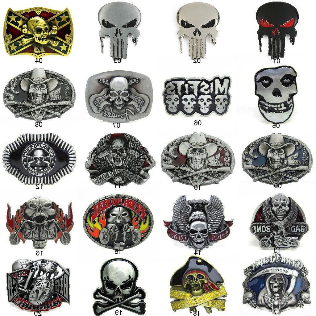 gothic punk mens western cowboy alloy metal