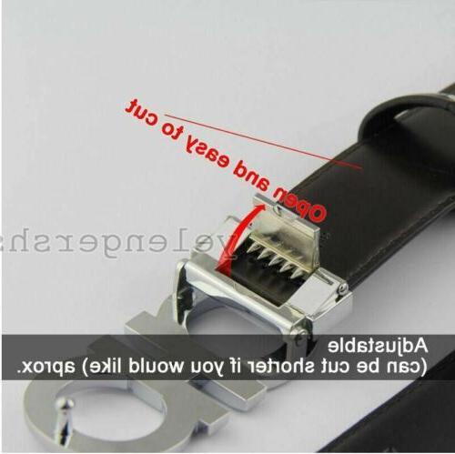 Gray Buckle Men's belt Reversible belt and Adjustable
