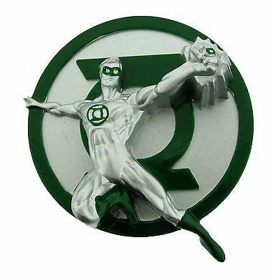 Green Lantern Belt Buckle Usa American Superhero Comics Logo