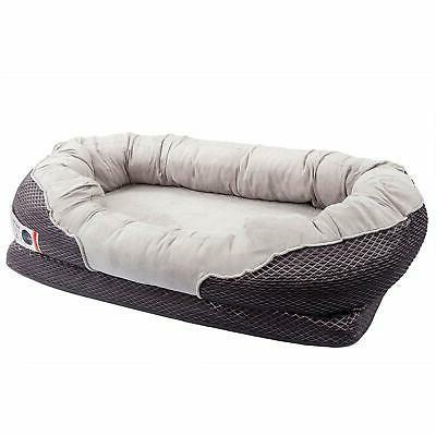 grey orthopedic dog bed