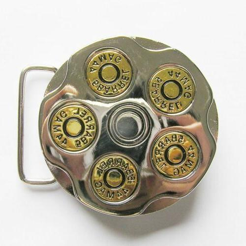 gun spinner bullet metal belt buckle
