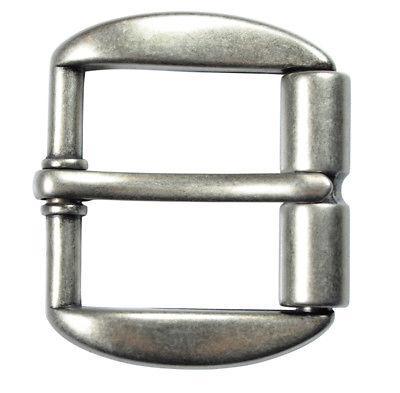 """Heavy Duty Silver Finish Roller Belt Buckle for 1 1/2"""" Belts"""